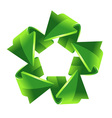 5 green recycling arrows for your design vector image