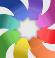 abstract composition color arrows vector image