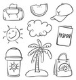 art of summer doodle style vector image vector image