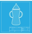 Baby bottle sign White section of icon on vector image vector image