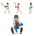 baseball team player sport man in uniform vector image