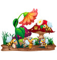 bee musical band playing in front fairy vector image