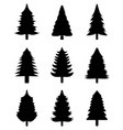 black christmas trees vector image vector image