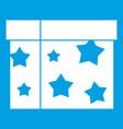 box magician icon white vector image vector image
