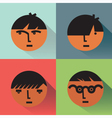 Boys Head Icons With Shadows vector image