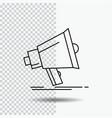 bullhorn digital marketing media megaphone line vector image