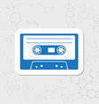 cassette flat icon vector image vector image