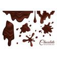 chocolate splatters set vector image vector image