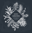 christmas greeting card or invitation design vector image