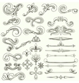 collection vintage hand drawn elements vector image vector image