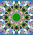 colorful abstract repeating triangle mosaic vector image