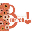 congratulations on international womens day march vector image vector image