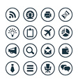 corporate icons universal set vector image vector image