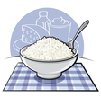 cottage cheese vector image vector image