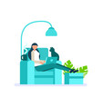 digital person woman working at home vector image