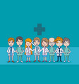 doctors and medical team vector image