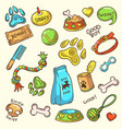 dog stuff icons set vector image