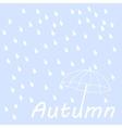Dry text under umbrella vector image vector image