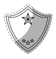 figure police badge icon image vector image vector image
