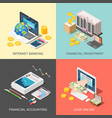 financial investment design concept vector image vector image