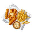 fish fingers vector image vector image