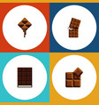 flat icon bitter set of wrapper cocoa dessert vector image vector image