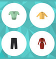 flat icon garment set of casual clothes banyan vector image vector image