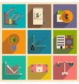 Flat with shadow concept stylish Finance icons vector image vector image