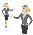 friendly business woman showing something vector image vector image