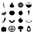 fruit and vegetables icon set vector image vector image