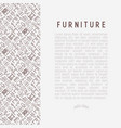 furniture concept with thin line icons vector image