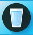 glass of water icon flat design vector image vector image