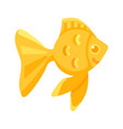 gold flat golden fish on white background vector image vector image