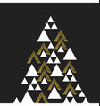 Gold geometric Christmas tree symbol Isolated on vector image vector image