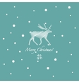 Grunge retro snowflakes and deer vector image