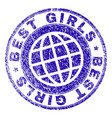 grunge textured best girls stamp seal vector image vector image