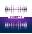 HQ sound waves Music waveform background vector image