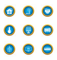 independent energy icons set flat style vector image vector image