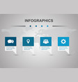 infographic design template with four banners vector image