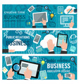 internet business banner vector image