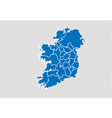 ireland map - high detailed blue map with vector image vector image