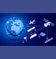 isometric global logistics network concept vector image vector image