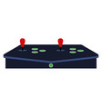 joystick for arcade machine vector image