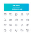 line icons set e-commerce 1 vector image vector image