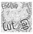 Making the Perfect Cut on Your Cigar Word Cloud vector image vector image