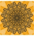 Mandala-like open-work on seamless texture Hand vector image vector image