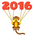 Monkey symbol of 2016 with balloons vector image vector image