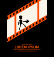 movie and film poster design template background vector image vector image
