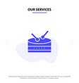 our services drum celebration solid glyph icon vector image vector image