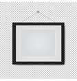picture frame isolated transparent background vector image vector image